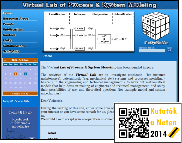 Virtual Lab of Process & System Modeling – Pokorádi László