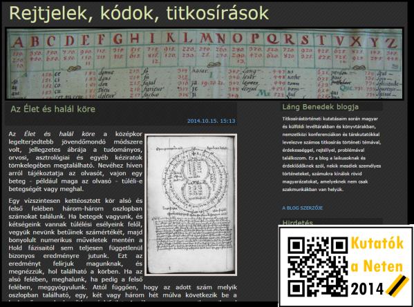Rejtjelek, kódok, titkosírások – Láng Benedek