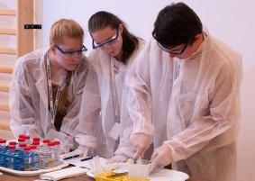 Laborkaland - Diákok munka közben 2