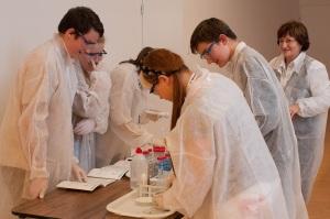 Laborkaland - diákok munka közben