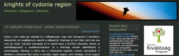 A Knights of Cydonia Region blog képernyőfelvétele