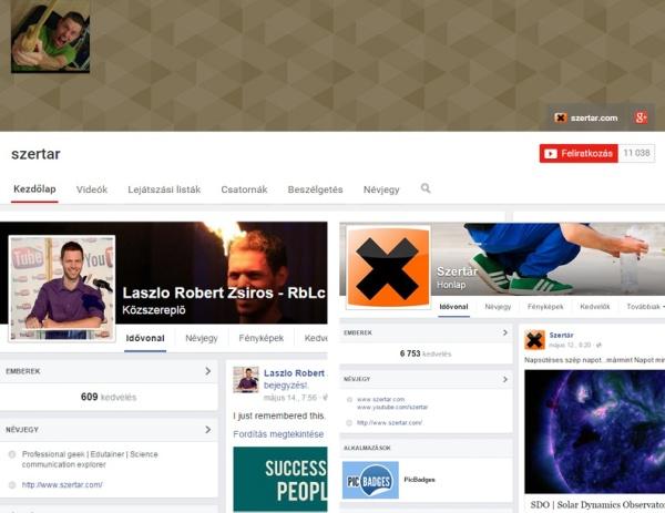 Montázs a Szertár YouTube csatornájának és Facebook oldalának valamint Zsiros László Facebook oldalának képernyőfelvételeiből